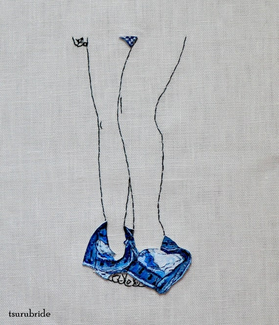 States of Undress No. 17 Embroidered Wall Hanging