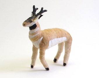 Vintage Inspired Spun Cotton Pronghorn Antelope Ornament/Figure