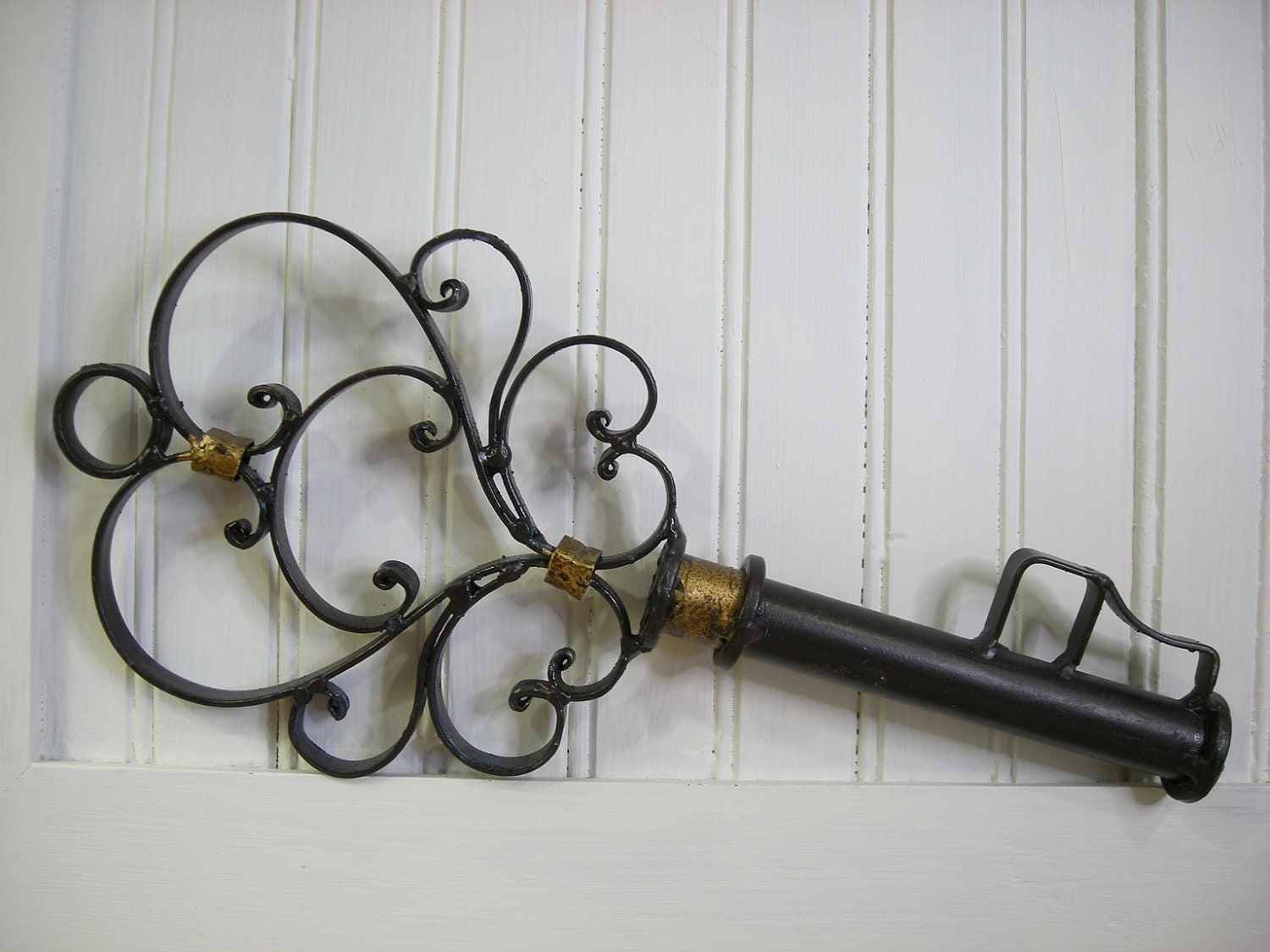 Wall Decor Keys : Large wrought iron key wall decor or steampunk by