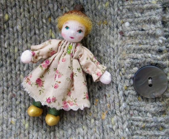 Tiny Acorn Pin Doll