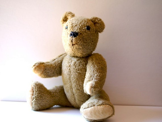 Much Loved Jointed Vintage Teddy Bear