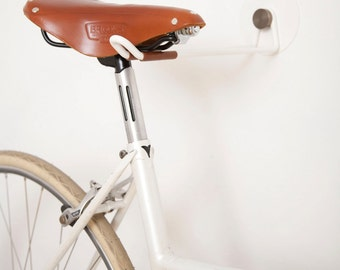 Bike Hooks / White Vintage Skin / BRASS