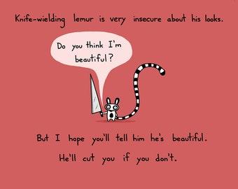 Beautiful Lemur Greeting Card