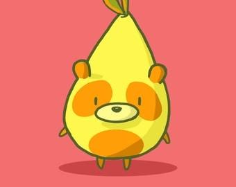 Panda Pear Art Print