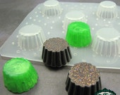 Resin Mold SMALL CUPCAKE BASE Shape Handmade Flexible Plastic Resin Molds works great for wax, plaster, clay etc