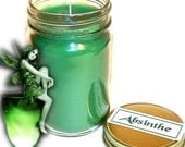 Absinthe Mason Jar Candle Herbal Spice Scent 12 Oz Handmade