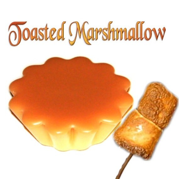 4 Toasted Marshmallow Tarts Wickless Candle Melts Vanilla Caramel Scent