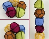 Polyhedral Balls - five geometric PDF CROCHET PATTERNS