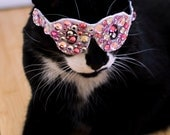Pink Bling Glasses for Cats