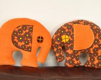 ellie twins - orange and brown love