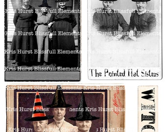 Witchy collage sheet download
