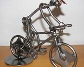 Mountain Bike Handmade Metal Sculpture - RESERVED