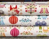 ON SALE! folk splendor fabric 1/2 yard