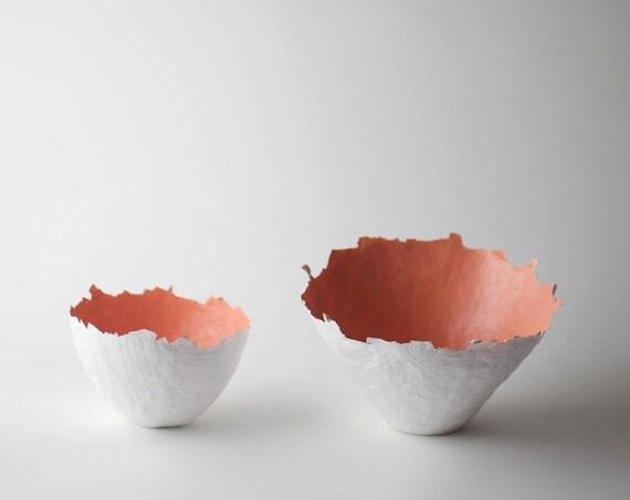 Large Peach Color Burst Bowl