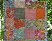 stroller baby quilt -- perfect for diaper bag --girly