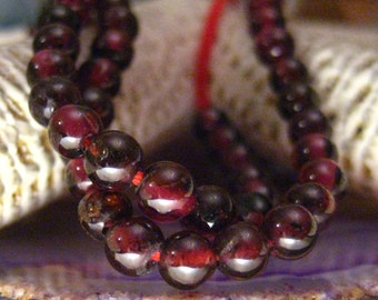 "SALE 16"" Strand 4mm Genuine Garnet Beads"