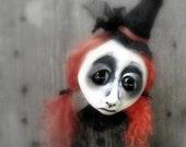Halloween Witch  ooak Gothic Art Doll Decoration Millicent