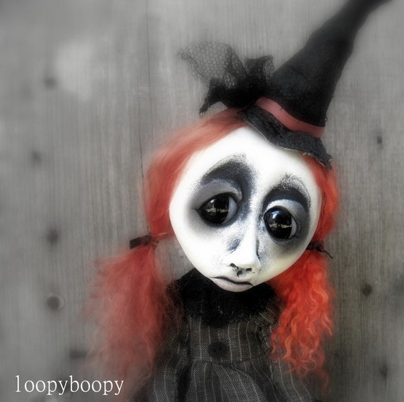 Halloween Witch  ooak Gothic Art Doll Decoration Millicent