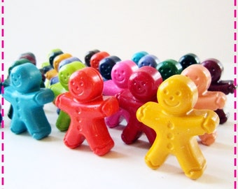 KIDS' PEOPLE CRAYONS - Birthday Party Pack of (20) Party Favors - In Assorted Colors - Eco-Friendly Toys Coloring Paint Party