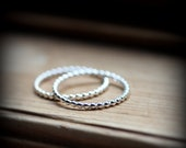 Dotted rings duet - set of 2 sterling silver rings