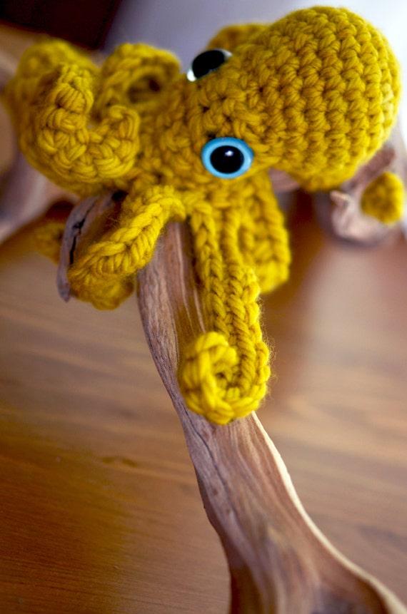 Baby Yellow Ochre Octopus By Rubysubmarine On Etsy