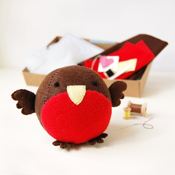 Make Your Own Robin Fattie Toy Kit Sewing Kit by claraandmacy