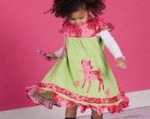 Girl dress corduroy vintage ruffled twirl dress custom size 12 months to 12 yrs - It's a Beautiful Day