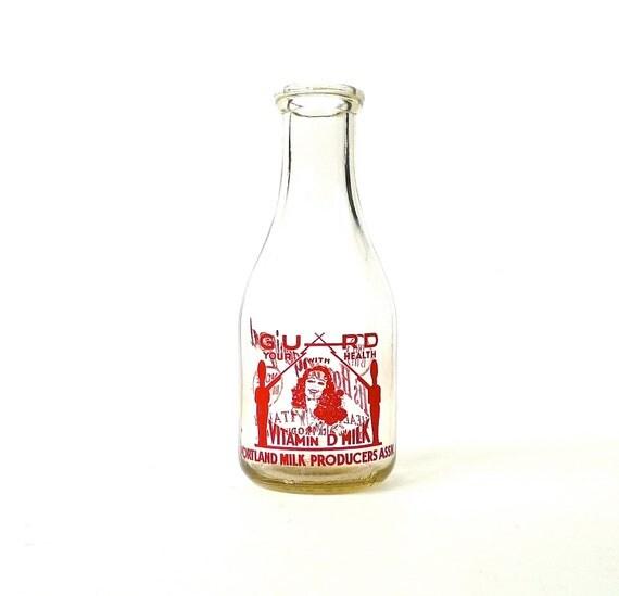 Portland Oregon 1940s Dairy Milk Bottle