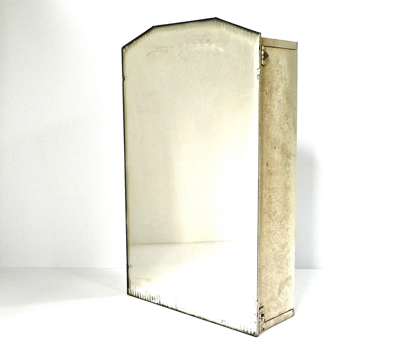 Vintage Etched Mirror Medicine Cabinet
