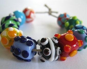 SRA Lampwork Orphan Beads