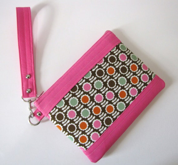 Large Clutch Wristlet Purse Make Up Carry All Case