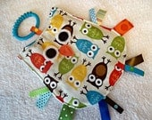 OWL Crinkle Sensory Toy in Urban Owls