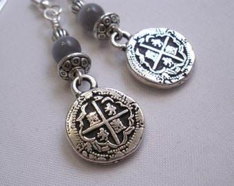 Pieces of Eight  Pirate Coin Earrings