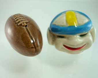 Salt and Pepper Shakers  1930s/40's Football and Player Vintage