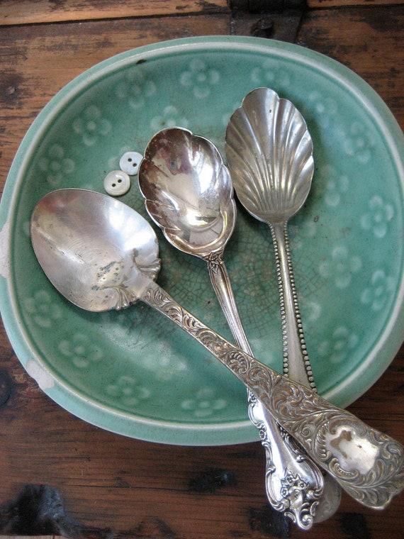 Vintage Silverplate Sugar Spoons