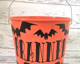 5 Quart Personalized Halloween Bucket