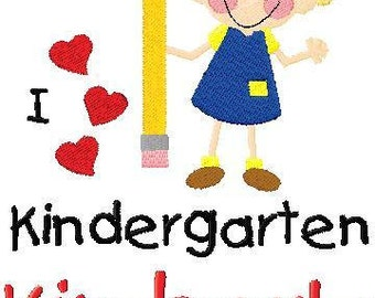 Back To School 1st Day of School Kindergartener T Shirt Match Skin and Hair Colors
