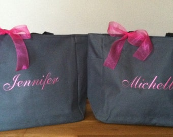 Personalized Monogrammed Totes Bags - Set of 3 -