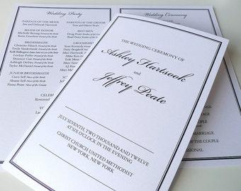 Classic Border Wedding Ceremony Programs
