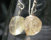 Rutilated Quartz Silver Drop Earrings