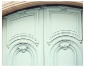 Paris Photograph - The Robins Egg Door, Fine Art Print, 8x10