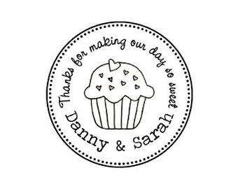 thanks for making our day so sweet Wedding Candy Buffet Custom Rubber Stamp