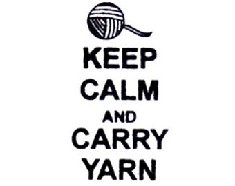 Keep Calm and Carry Yarn Rubber Stamp