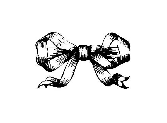 ribbon tied bow Rubber Stamp