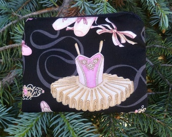 Ballet coin purse, gift card pouch, credit card pouch, The Raven