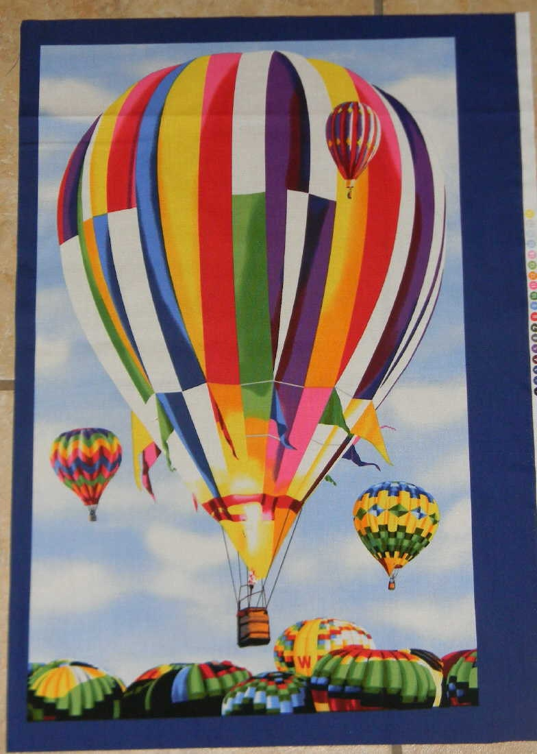Cotton Hot Air Balloon Fabric Panel