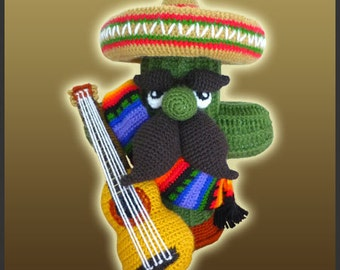 Amigurumi Pattern Crochet Cactus Mariachi DIY Digital Download