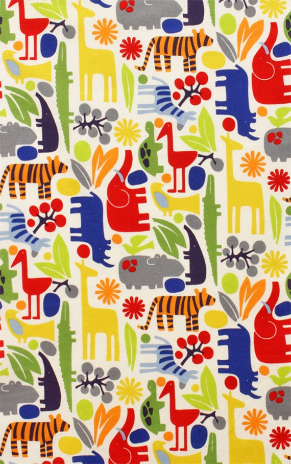 Alexander Henry 2D Zoo NEW Primary Fabric - By the Yard