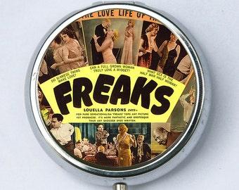 Freaks Pill Case holder pill box pillbox DIY circus sideshow freak performer obscure