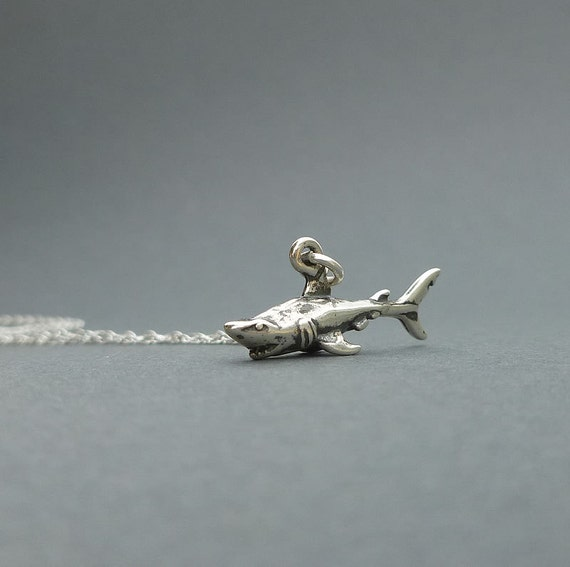sterling silver shark necklace | charm necklace | gift for her